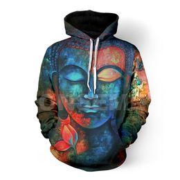 China ONSEME Religion Buddha Printed Hooded Sweatshirts Men Women Vintage Style Harajuku 3D Hoodies Pullovers Unisex Hoodie Cool Hoody cheap vintage style hoodies suppliers