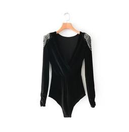 $enCountryForm.capitalKeyWord UK - luxury Women's Tops Euramerican style 2018 early spring new women's wear style beaded velvet jumper free shipping