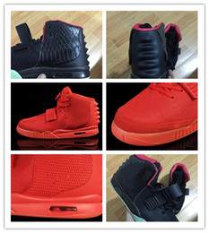 Down Shoes NZ - Drop shipping 2018 men Basketball shoes black Y II 2 sneaker skateboarding althetic shoes Red October Trainers shoes size 40-46