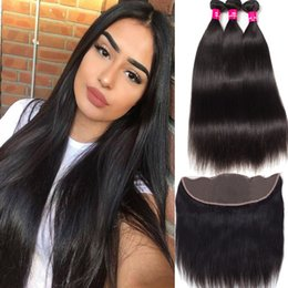 $enCountryForm.capitalKeyWord Canada - Brazilian Straight Body Wave Loose Deep Wave Hair 3Bundles With 13x4 Lace Closure Unprocessed Brazilian Peruvian Malaysian Indian Human Hair