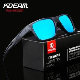 dd85598da5 KDEAM Square Sport Sunglasses Polarized Mirror lens Anti-Reflective Men Sun  Glasses outdoor UV400 protection With Case R8786