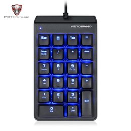 $enCountryForm.capitalKeyWord Australia - MOTOSPEED K22 Mechanical Numeric Keypad Mini Wired 22 Keys Numpad LED Backlight Keyboard Extended Layout for Cashier