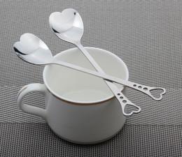 Heart sHaped measuring spoons favors online shopping - Flatware Lovers Heart Shaped Love Coffee Tea Measuring Spoon Wedding Lover Favors Stainless Steel Dinner Tableware In1 Coffee Spoon