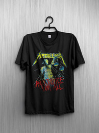 e8b59ac9 Vintage T-shirt 1988 Metallica And Justice For All Tour Reprint Funny free  shipping Unisex Casual tee gift