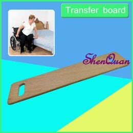 slide boards Canada - Transfer board for wheelchair users, wooden slide board with handles, 22*75cm strong wood slider board bear 150kg
