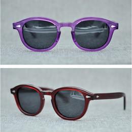 883e1ea9d7c johnny sunglasses 2019 - Moscot 1915 Blue lenses sunglasses 49mm Lemtosh johnny  depp glasses AAAAA+ Quality