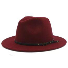 c6c09fdd9e6b0 Black men fedora hat online shopping - 100 Wool Women Outback Felt Gangster  Trilby Fedora Hat