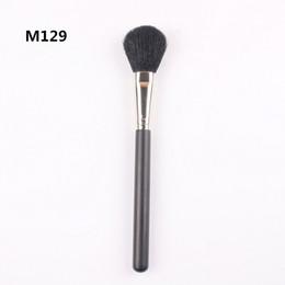 $enCountryForm.capitalKeyWord NZ - Factory Sale Professional New Branded Cosmetics #129 Large Face Powder Brush MC Makeup Face Blusher Single Brushes Goat Hair free shipping