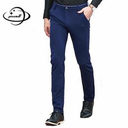 Men S Long Wedding Suit Australia - YAUAMDB men suit pants 2017 autumn winter size 28-38 male cotton business long trouser formal wedding casual dress pant y71