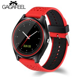 $enCountryForm.capitalKeyWord NZ - Gagafeel V9 Smart Watch with Camera Bluetooth Smartwatch SIM Card Wristwatch for Android Phone Wearable Devices pk dz09 A1 gt08