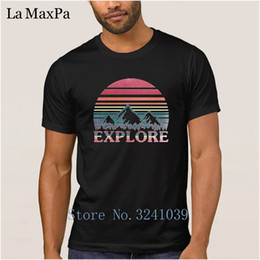 White Shirts Styles Designs For Men Australia - Design Fashion T-Shirt Cotton Simple Summer Style T Shirt For Men Explore Mountain Sunset Men Tshirt Male Plus Size Top Quality