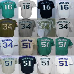 db4ff5f9e ... official store newest seattle baseball jerseys 16 austin jackson 34  felix hernandez 51 randy johnson grey