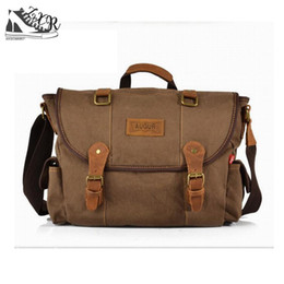 small handbags for man Canada - Men Messenger Bag Canvas Vintage Luxury Handbag Crossbody Bags For Man Laptop Package Small Satchel Khaki army Green coffe