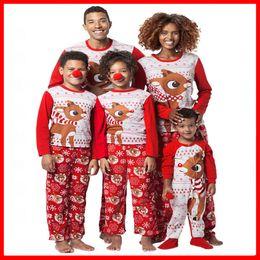 Santa Pajamas Australia - Christmas Kids Adult Santa Family Matching  Pajamas Set ELK Xmas Deer Snowman efe80bab7
