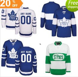 Custom Hockey Jerseys Toronto Maple Leafs 2018 Centennial Classic St. Pats  Home Blue White Away Customized Jersey Size S-3XL 1b24cc531
