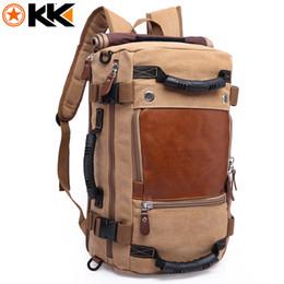 Large canvas duffeL bags online shopping - KAKA Large Capacity Female Canvas Backpack Male Computer Travel Bags Backpacks for Men Waterproof Duffel Luggage Shoulder Bag