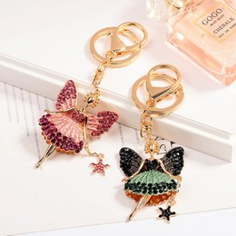 $enCountryForm.capitalKeyWord Canada - 2018 New Arrival Cute Angel Keychain Ballet Girl Key Ring Chain For Women Bag Charm Pendant Fashion Gift Car Keyring