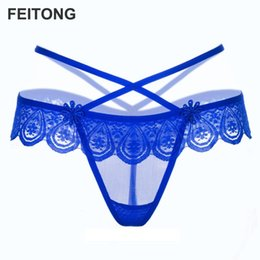 8dc9bff4475 Panties for Women lace g-string Sexy Lace Low-Waist Hollow Briefs Women  Thongs Panties G String wholesale wholesale  EW