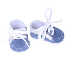 e2011fc2073b Baby Born Doll Shoes Cute Blue Lacing Casual Shoes Leather Fit 43cm Zapf  Baby Born Doll Accessories