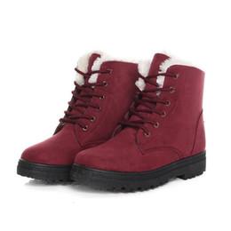 bfaff786d80 Snow boots 2018 classic heels suede women winter boots warm fur plush Insole  ankle women shoes hot lace-up shoes woman