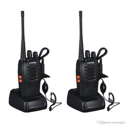 Transceiver 3km NZ - Black FM Transceiver 400-470MHz Rechargeable Walkie Talkie Two-way for Baofeng BF-888S EU Plug 16 Channels 3KM