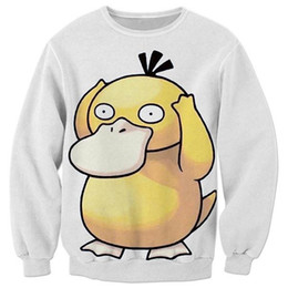 Wholesale cool clothing style online – design 2017 NEW Fashion men women tops cool D print Psyduck Hot style sweatshirt enchantress pullover streetwear clothing