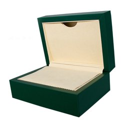 New packagiNg products online shopping - Special price green original watch box pu advanced luxury product leather box customized watch protection box complete gift package