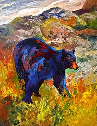 $enCountryForm.capitalKeyWord Australia - YOUME ART Giclee Animal the urge to merge black bear3 oil painting arts and canvas wall decoration art Oil Painting on Canvas 60X76cm