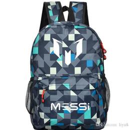 4fd9870c6f46 2018 Messi Logo Teenagers School Book Backpack Soccer Bag Football Shoulder Bags  Sports Travel Bag Gift For Kids Mochila Escolar