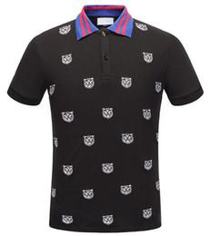 dd0cb09599c93 Runway Light Polo de algodón con camiseta a rayas para hombre Nuevo llega  Italia diseño marca contraste cuello polo camiseta hombre moda poloshirt 324