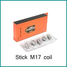 Stick replacement online shopping - Hot sales stick M17 Coil Head Replacement ohm ohm Dual Core for M17 AIO Kit vs vape pen coils