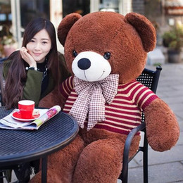 Birthday teddies for girls online shopping - 2018 Lovely Stuffed doll huge Teddy Bear Plush toy with bow Soft Plush Toys for Girls Birthday Gift