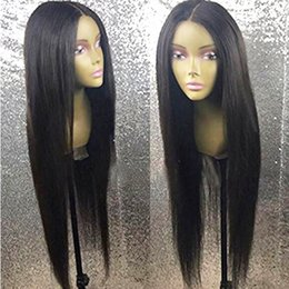 Straight Black Wig Middle Part NZ - Sweetheart Long Straight Wigs with Baby Hair Middle Part Glueless Synthetic Lace Front Wig Natural Soft Black Wigs for Women Heat Resistant