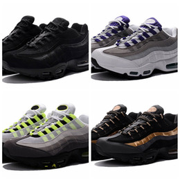 China 2018 New Cheap Mens sports 95 running shoes,Premium OG Neon Cool Grey sporting shoes sneakers size 36-46 cheap cheap neon lights suppliers
