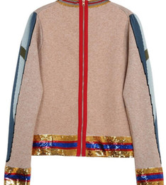 Brand Designer Sequined Wool Sweaters 2017 Style Runway Round Neck Embroidery  Parrot Zipper Back Pullovers Autumn Applique Knitted Jumpers 423e3000d