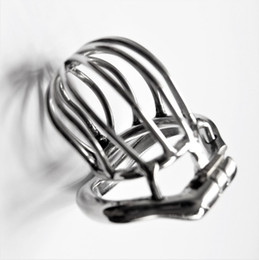 Chinese  Stealth Lock Chastity Cage Stainless Steel Male Chastity Device Sex Toys For Men Penis Lock Cock with Anti-Spike Ring manufacturers