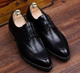 Trend Shoes British Canada - British pointed leather shoes, men's trend line with increased business casual men's shoes, hair stylist wedding shoes, leisure shoes 37-44e