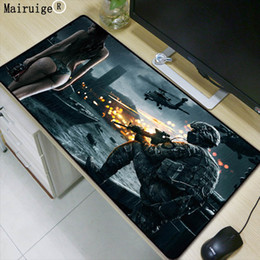 Vente en gros Mairuige Sexy Cartoon Battlefield Grand Tapis De Souris Mousepad Tapis De Souris De Jeu En Caoutchouc Naturel Antidérapant avec Bordure de Verrouillage pour CSGO