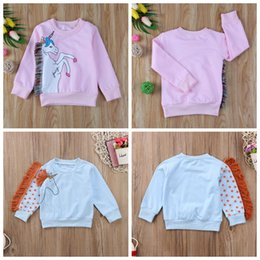 ac8ad920179 Kids unicorn Sweatshirt cartoon Cotton Boys Girls Tops Long sleeve t-shirts  Spring Autumn Tees Kids Clothing GGA1027