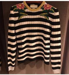 $enCountryForm.capitalKeyWord NZ - vintage 2018 spring fashion jumpers Striped brand designer women's sweater flower Embroidery tops runway sweater