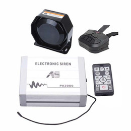 12v Pack Australia - AS 100W Police Siren Bundle 3-Piece Pack 20 Tones 12V with Siren Box Speaker Wireless Remote Microphone Fit for Different Vehilces car