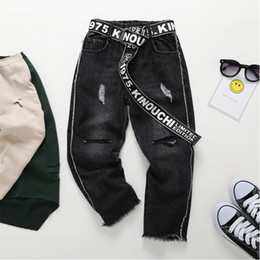 $enCountryForm.capitalKeyWord Canada - Boys Ripped Jeans Spring Summer Fall Style 2018 Trend Denim Trousers For Kids Children Distrressed Hole Pants