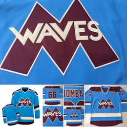 anti wave 2019 - Custom Mighty Ducks Bombay Waves #66 Gordon Bombay Hockey Jerseys Gunner Stahl Mighty Ducks Waves Hockey Jersey cheap an