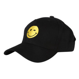 Snapback Face Canada - Embroidered Smile Face Hip Hop Suede Cap Baseball Cap Blank Dad Hats For Men Women Snapback Trucker Hat Men Casquette