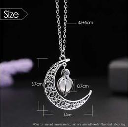 Ingrosso Pendenti di collana lunga di fascino di fascino di modo di BFH per le donne degli uomini Ragazze all'ingrosso regalo di gioielli di collana di luna Moon Moon lucido