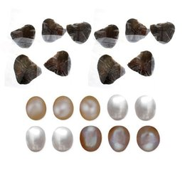 pink freshwater cultured pearl necklace 2018 - Freshwater Cultured Love Wish Pearl Oyster With 6-8mm Pearl Inside For DIY Cage Pendant Necklace Making Individually Vac