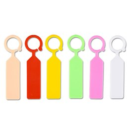 Wholesale Garden Diy Plant Flowers Tags Ring Button Thickening Practical Labels Hang Usage Fantastic Plastic Tag With Multi Color lq jj