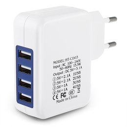 Wholesale US EU Plug Travel Home Wall Charger USB Ports Charging Adapter for Cell Phones GPS etc Mobile Devices