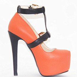 2018 fashion high heel cingulate waterproof pump plus size party wedding red women shoes Clasp style discount top quality FNwq6