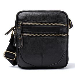 $enCountryForm.capitalKeyWord Canada - Men messenger bags luxury genuine leather men bag designer high quality shoulder bag casual zipper office bags for